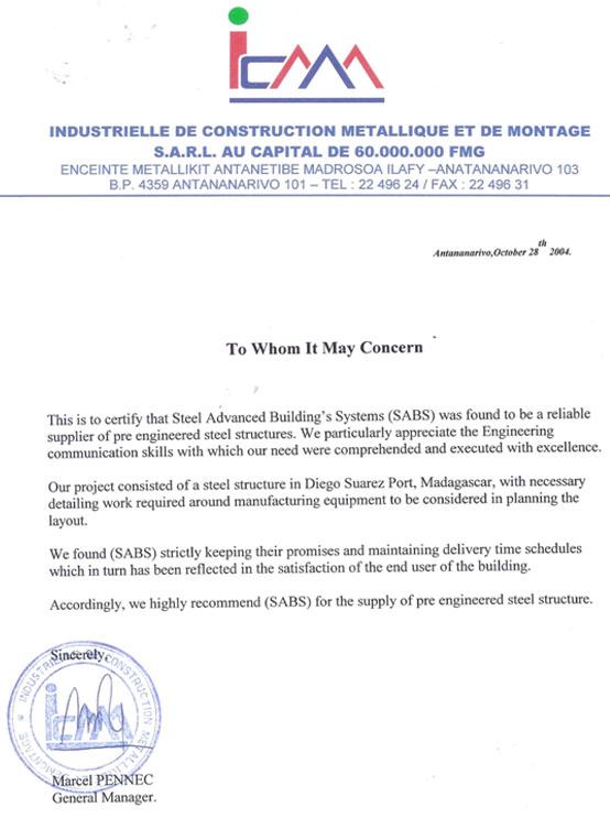 مشاريع مبانى معدنية جاهزة فى مدغشقر